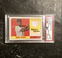 Ozzie Albies 2018 Topps Heritage Clubhouse Collection Jersey Rc PSA 10