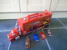"Disney Cars 20"" (51cm) Mack Truck Hauler Storage Carry Case with Lights, 4 Cars"