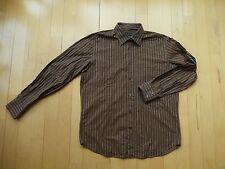 JOOP! Schickes Hemd Gr. 41 braun, beige gestreift sehr gut, wenig getragen
