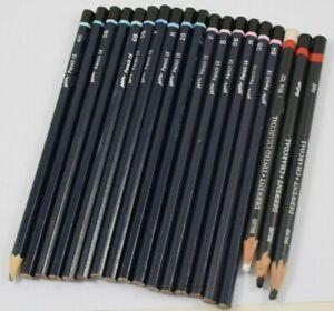 Job Lot Bundle of Artist's Lead Pencils (B,F,5B,HB) & Charcoal Pencils   #W30-4