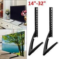 "Universal Table Top TV Stand Base VESA Pedestal Mount 14""-32"" LCD LED 3D TV Set"