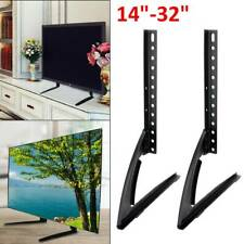 "Universal Table Top TV Stand Base VESA Pedestal Mount 14""-32"" LCD LED 3D TV Set"