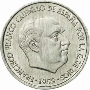 [#527952] Coin, Spain, Francisco Franco, caudillo, 10 Centimos, 1959, AU