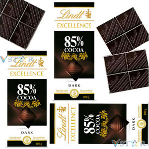 LINDT EXCELLENCE 85% COCOA DARK CHOCOLATE 3 X 100G