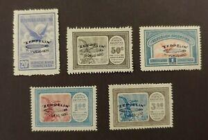 1930 ZEPPELIN SET VF MLH ARGENTINA ARGENTINIË WK1.1 START $0.99