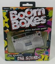 Bluetooth Boom Boxes Collectors Edition Wireless Speaker(69902) Silver New