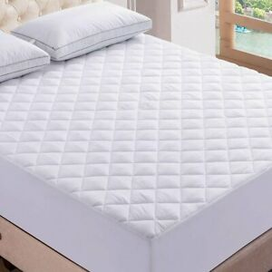 40cm Quilted Mattress Protector Bed Topper Cover Single Double King 4Ft All Size