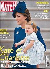 PARIS MATCH N°3515 29/09/2016 KATE & CHARLOTTE/ PITT & JOLIE/ ALEP SYRIE/ HERGE
