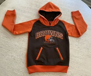 Kids unisex boys NFL hoodie Cleveland Browns Size Small 8 Youth
