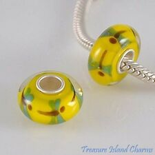 DRAGONFLY LAMPWORK MURANO GLASS .925 Sterling Silver EUROPEAN EURO Bead Charm