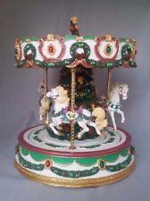San Francisco Music Box Co VTG Carousel  O Tannenbaum Merry Go Round Deck Halls