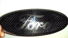 1 Ford Emblem Overlay CARBON FIBER Oval BLACKOUT STICKER DECAL Any Year/Model