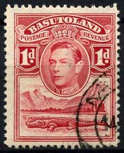 Basutoland 1938 SG#19, 1d Scarlet KGVI Used #D26226