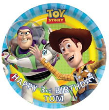 TOY STORY BIRTHDAY Personalised Edible Icing Cake Topper Decoration Images