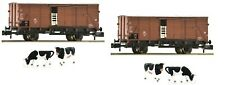 Fleischmann N scale Set of 2 cattle cars type G10 DB