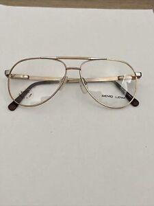 Vintage Monel - 2 Flex Frame Gold & Chrome Aviator Glasses Demo Lenses 56-18-145
