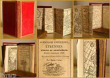 CADEAU DES MUSES ALMANACH ETRENNES MAROQUIN ROUGE NORMANDIE FALAISE GRAVURES