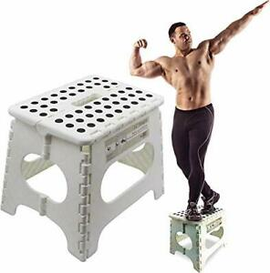 """Super Strong Folding Step Stool, 11"""" Height, Holds up to 300 Lb"""