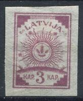Lettonie 1919 Mi. 3 C Sans gomme 100% non dentelé 3 K, Dim