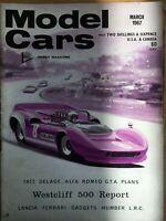 Model Cars Magazine,March 1967 Delage, Alfa GTA, Humber Tank