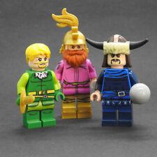 Custom Warriors Three classic Marvel minifigures thor on lego brand bricks