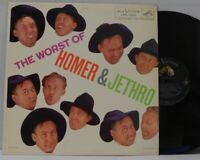Homer and Jethro LP The Worst of Homer & Jethro on RCA comedy