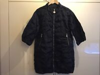 MONCLER BLUE HELYETTE CREASE EFFECT JACKET / SIZE 0 / UK 8 / EXCELLENT CONDITION