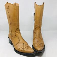 Gianni Barbato 37.5 Tan Leather Western Boots 2400-551-31220