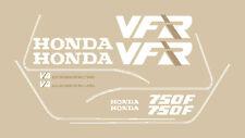 HONDA VFR 750 F RC 24 '88 '89 SERIE ADESIVI STICKERS MOTO ROSSA