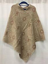 Women Boho Cape Red Batik Poncho Scarf Sweater Fringe Hood Jacket Coat Soft Warm