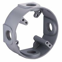 Hubbell-Bell 5363-0 4-1/2-Inch Outlets 4-Inch Round Weatherproof Extension Adapt