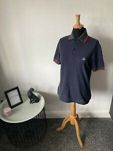 Vivenne Westwood Polo Shirt Navy Blue - Men's Size S