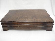 1847 Rogers Bros Flatware Chest Dark Wood Burgundy Felt Lining Vintage
