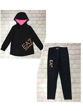 EA7 EMPORIO ARMANI JUNIOR GIRLS8 YEARS BUNDLE BLACK/ROSE GOLD HOODIE & LEGGINGS