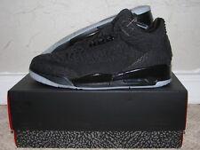 1cb11d46270c Nike Air Jordan 3 III Retro Flyknit Black Men s Size 9.5 DS NEW! AQ1005-