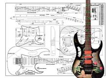 Ibanez JEM full Scale Electric Guitar Plans for Guitar Building