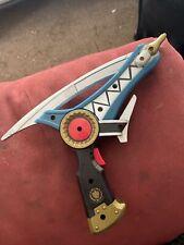 Power Rangers Dino Thunder Thundermax Saber/Blaster Blue Gun Blade Used 2003