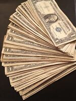 100x Pack 1935-1957 One Dollar Note $1 Silver Certificate G-XF Blue Seal US Bill