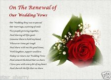On The Renewal Of Our Wedding Vows Personalised Gift
