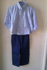 Maravillosa Azul Rayada Camiseta y Pantalones Azul Marino conjunto de Hamilton, edad 3yrs-Nuevo con etiquetas!!!