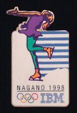 Figure Skating~Olympic Pin Badge~sponsor: IBM ~1998 Nagano~Winter Games