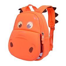 Animal Toddler Kids Backpack 3D Dinosaur Cartoon School Hiking Bags Toys Orange
