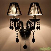 Modern Black Crystal LED Wall Lamp Wall sconce Light Living room lighting