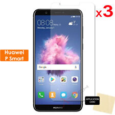 3 Pack CLEAR LCD Screen Protector Cover Guards for Huawei P Smart