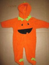 Boys Girls baby plush PUMPKIN Halloween Costume sz 3 months