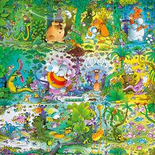 Puzzle Mordillo - Wildlife, 1000 Teile, Cartoon, Dschungel, Urwald, Comic, Heye