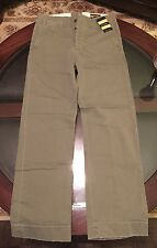 Rugby Ralph Lauren Mens Chino Pants Size 28-30 Olive Green New With Tags