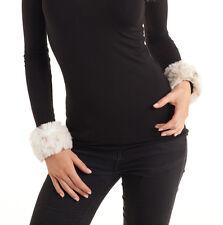 Woman's Faux Fur Slap Cuff Ski Sweater Accessories Lynx