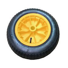 "Wheelbarrow REPLACEMENT 2x14"" Wheel Pneumatic Inflatable Tyre 3.50-8 S247 Yellow"