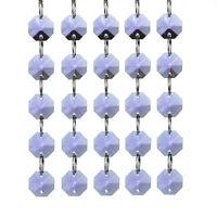 H&D 5PCS Octagon Beads Crystal Chandelier Lamp Part Prism Ornament Wedding Favor